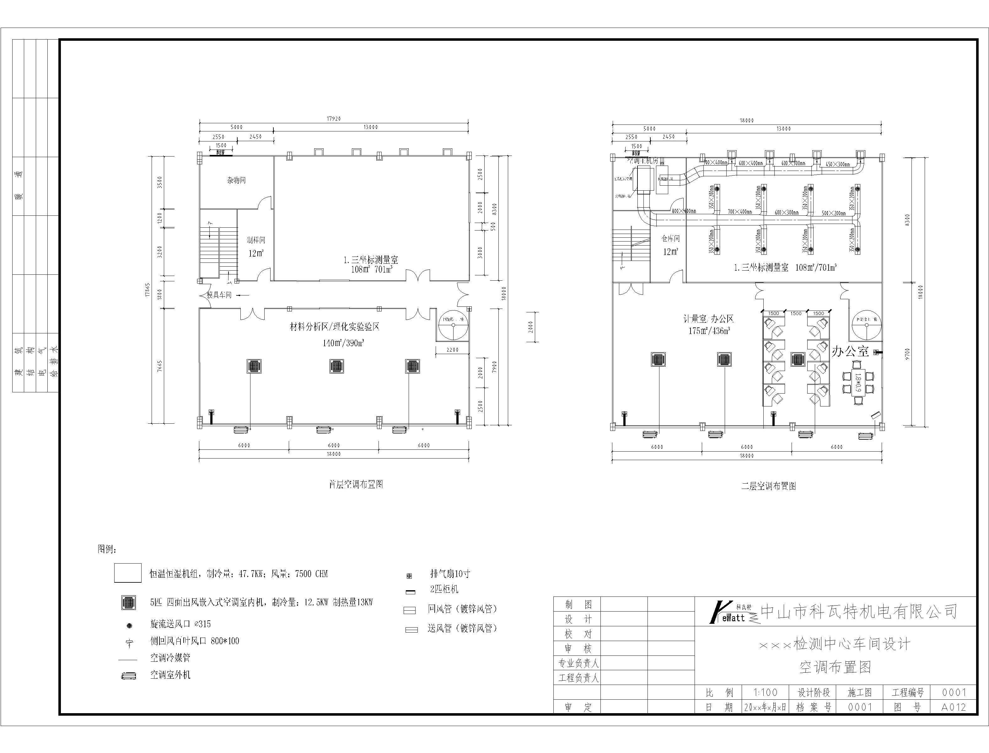 三坐标实验室的空调设计图图片